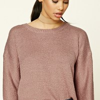 Boxy Ribbed Knit Sweater