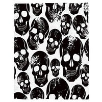 Black Skull Throw Warm Microfiber Blanket