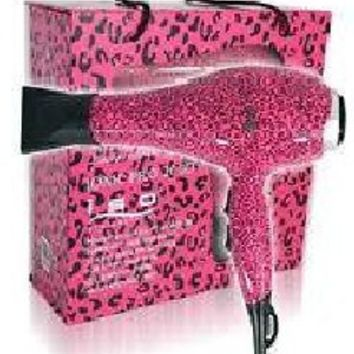 Iso Beauty Professional Blow Dryer Ionic 2000W Limited Edition Hot Pink Leopard: Beauty