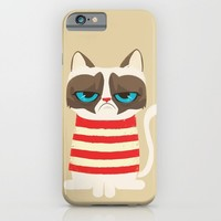 Grumpy meme cat  iPhone & iPod Case by Catalin Anastase