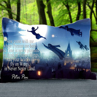 "Disney Blue Peter Pan Quote Custom Pillow Case 30"" x 20"""