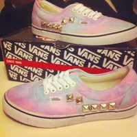 Cryptic Cult — tie dyed vans