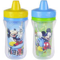 The First Years Disney Baby Mickey Mouse Insulated Sippy Cup with One Piece Lid