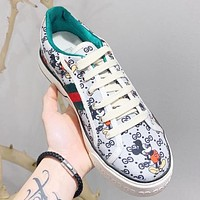 GUCCI x Disney Mickey Mouse New Fashion Women Sneakers Sport Running Shoes