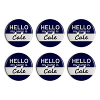 Cale Hello My Name Is Plastic Resin Button Set of 6