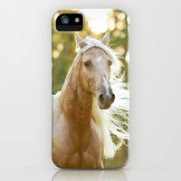 Golden Girl Horse Photography iPhone & iPod Case by Stephanie Moon