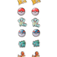 Pokemon Starters Poke Balls Earrings 6 Pair