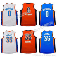 Rev 30 Men With short sleeves #0 Russell westbrook basketball jersey Men #35 kevin durant jersey Youth Kid westbrook jersey Embroidery Logos