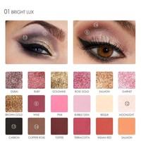 FOCALLURE 18 Color Matte Eyeshadow Pallete Make Up Palette Eye Shadow Makeup Glitter Waterproof Lasting
