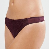 New Look Mesh and Lace Thong at asos.com