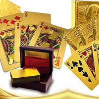 Our WIN!WIN! 24 kt Gold or Silver Plated playing cards in a laminated Jewel box ..