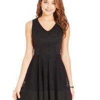 BCX Juniors' Sleeveless Lace Dress | macys.com