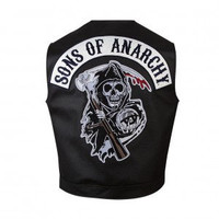 Sons of Anarchy Reaper Faux Leather Vest
