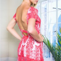 Bella Donna Red Lace dress