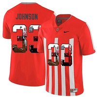 NIKE Jersey Ohio State Buckeyes Pete Johnson 33 College Printed Jersey Elite Fashion Player Jersey