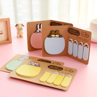 E45 Kawaii Cartoon Cute Paper Scrapbooking Message Sticker Student Stationery Bookmarks Leaf Memo Pad Notebook Sticky Notes