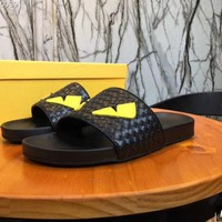 Fendi Casual Fashion men Floral Print Sandal Slipper Shoes