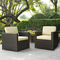 Wildon Home ® Manhattan 2 Piece Deep Seating Group with Cushions (Set of 2)