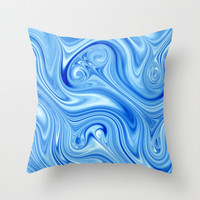 Ice Flow Throw Pillow by Alice Gosling