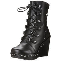 Harley-Davidson Womens Sandra Leather Platforms Motorcycle Boots
