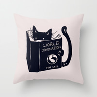 World Domination For Cats Throw Pillow by Tobe Fonseca | Society6