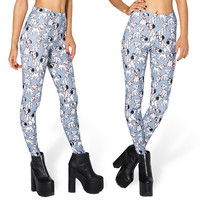 Free size 3291 Fashion Women  101 Dalmatian Toasties prints elastic bodybuilding sexy Girl Leggings Pants