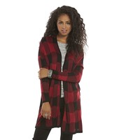 Mudd Plaid Open-Front Juniors' Cardigan, Size: