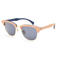 Ray-Ban Cherry Wood Clubmaster Sunglasses Wood One Size For Men 26416446101