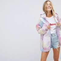 ASOS Two-piece Pastel Spray Paint Rain Jacket with Fanny Pack at asos.com