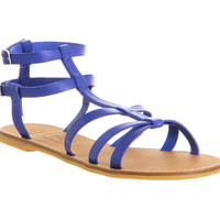 Office Haven Easy Gladiator Blue Leather - Sandals