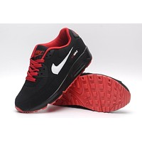 NIKE AIR MAX 90 fashion ladies men running sports shoes sneakers F-PS-XSDZBSH Black + white groove + red sole