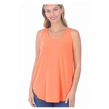 Cozy Me! Relaxed Fit Sleeveless Top - Coral