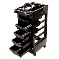 "30"" Rolling Salon Storage Trolley Cart Hair Dry Holder 5 Drawers"