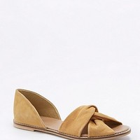June Yellow Knot Flats - Urban Outfitters
