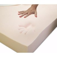 Memory Foam Solutions Full/Double 2-Inch Thick 5-Pound Density Visco Elastic Memory Foam Mattress Pad Bed Topper