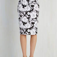 60s Long Pencil Sketched Vignettes Skirt by ModCloth