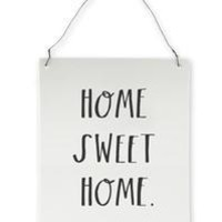 Rae Dunn Stem Print Home Sweet Home Wall Plaque