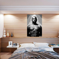 Free Shipping in the US, 36X54 inch Tupac Shakur Poster, Celebrity Icons, Black and White, Extra Large Engineering Print.