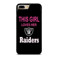THIS GIRL LOVES THE RAIDERS iPhone  4/4S 5/5S/SE 6/6S 7 8 Plus X Case