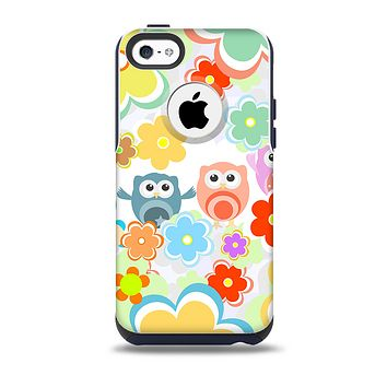 The Fun-Colored Cartoon Owls Skin for the iPhone 5c OtterBox Commuter Case