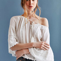 Patrons Of Peace Ophelia Tiered Bell-Sleeve Blouse - Urban Outfitters