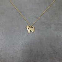 Husky Dog Gold Necklace