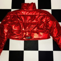 SWEET LORD O'MIGHTY! BRATITUDE PUFFER JACKET IN RED