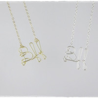 Bff (Best friends forever) Wire Word Name Pendant Necklaces (2)