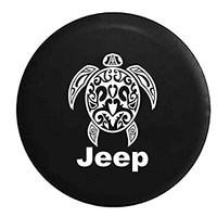 Jeep Sea Turtle Diving Beach Marine Life Spare Tire Cover OEM Vinyl Black 32-33 in