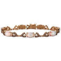 Le Vian® Chocolatier Opal (4-1/5 ct. t.w.) and Diamond (1-1/2 ct. t.w.) Link Bracelet in 14k Rose Gold, Only at Macy's - All Fine Jewelry - Jewelry & Watches - Macy's
