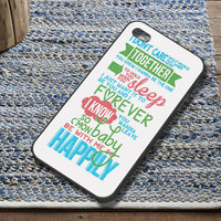 One Direction 1D Happily Lyrics Case fit for iPhone 4/4S iPhone 5/5S/5C Samsung Galaxy S3/S4