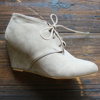 The Woodworth Ankle Booties in Taupe