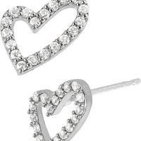 PRECIOUS LUXURIES GOLD HEART EARRING