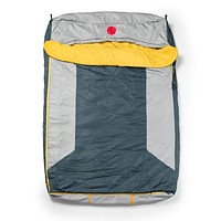OmniCore Designs Multi Down Double Wide Hooded Rectangular Sleeping Bag (10F Red / 30F Yellow) with 4pt. Compression Stuff Sack 30F / 0C (Yellow)
